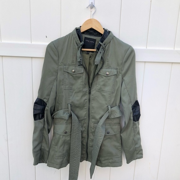 therapy Jackets & Blazers - Therapy green military jacket black sz Large